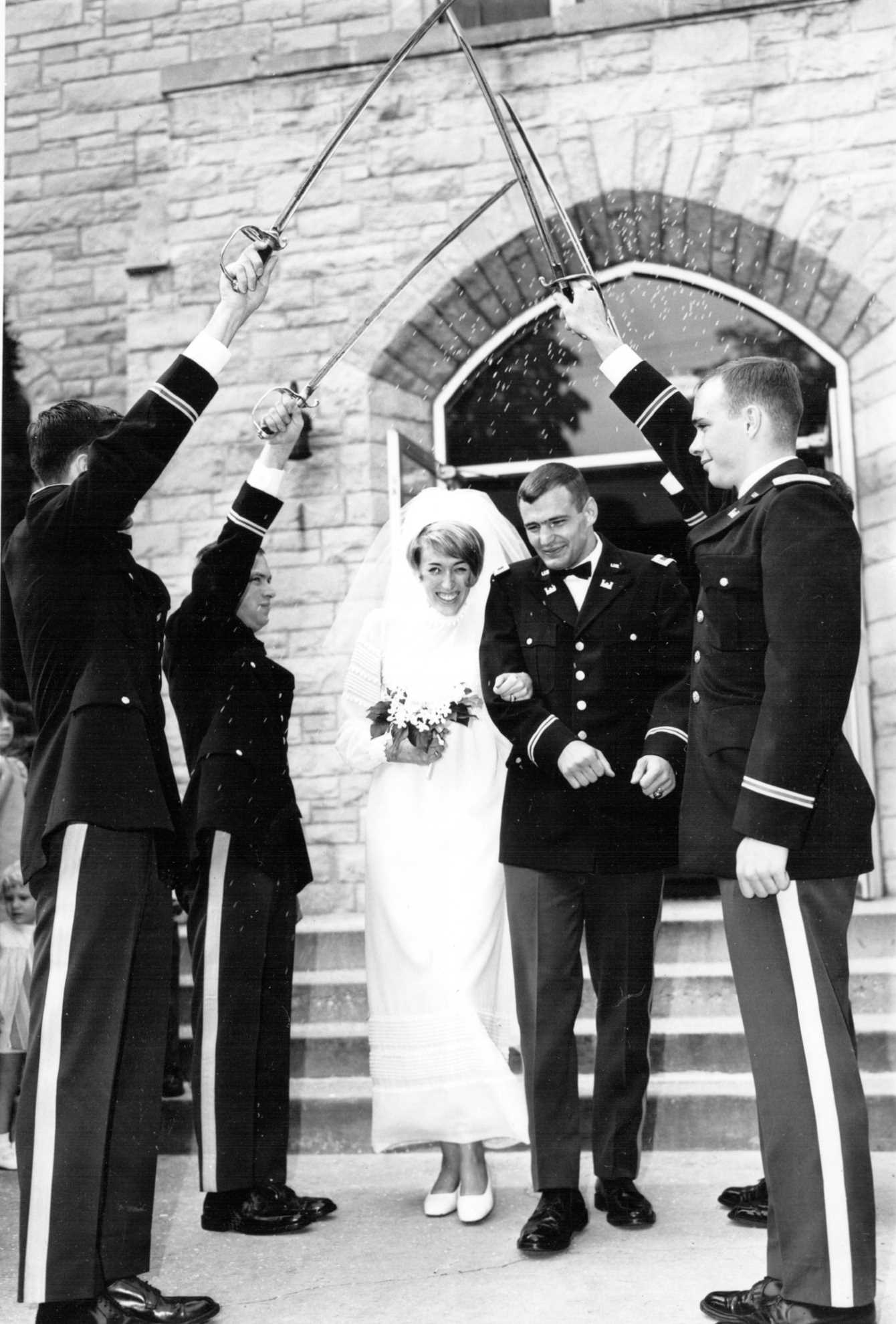 2nd Lt. Charles A. Vehlow and Katy married at West Point chapel 1968